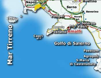 Tour Costiera Amalfitana Cartina.Costa Amalfitana Mappa Dell Isola