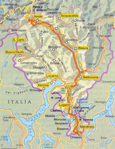 Cartina Ticino Svizzera.Regione Del Ticino I Luoghi Le Citta In Pubblicita Dagli Operatori Del Turismo
